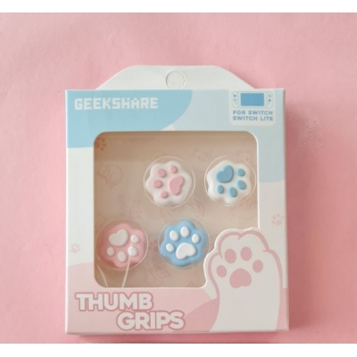 Switch Button Thumb Grips - Cat Paws (Pink & Blue)
