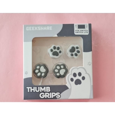 Switch Button Thumb Grips - Cat Paws (Black & White)