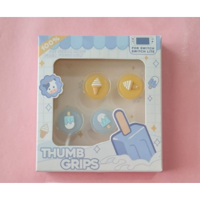 Switch Button Thumb Grips - Ice Cream Cone & Popsicle (2 designs)