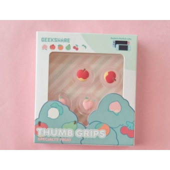Switch Button Thumb Grips - Peach & Apple (2 designs)