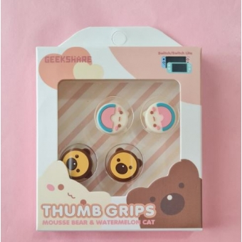 Switch Button Thumb Grips - Cat & Bear (2 designs)