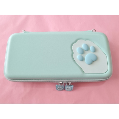 Switch Hard Cover Case - Cat Paw (turquoise)
