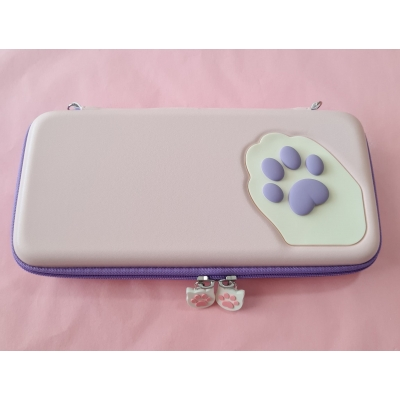Switch Hard Cover Case - Cat Paw (roze/paars)
