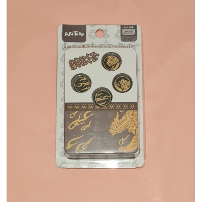 Switch Button Thumb Grips - Monster Hunter Rise (black/gold)