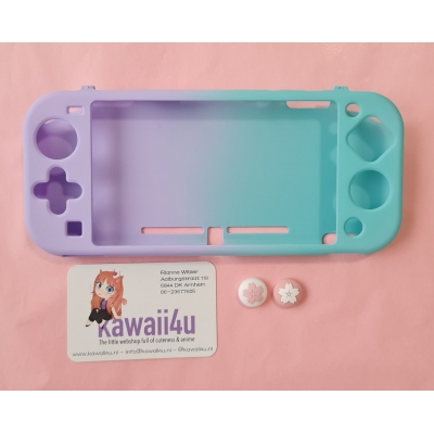 Switch Lite Beschermhoes - Paars/Turquoise