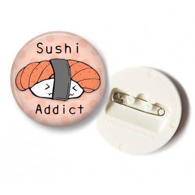 'Sushi Addict' Sake Button - 36mm