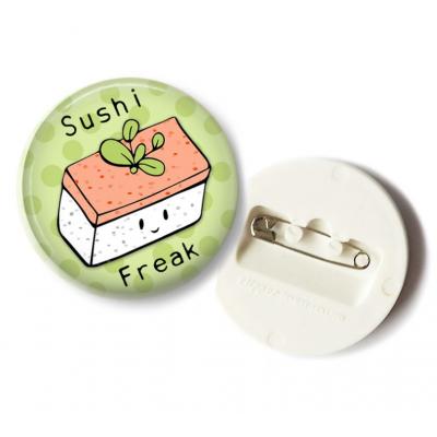 'Sushi Freak' Musaic Button - 36mm
