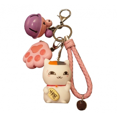 Kawaii Crazy Kitty Sleutelhanger 2
