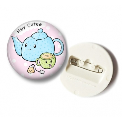 'Hey Cutea' Thee Button - 36mm