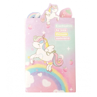 Kawaii Unicorn Rainbow Memoblokje