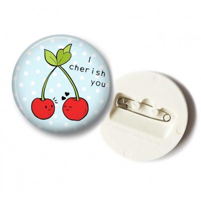 'I Cherish You' Kersen Button - 36mm