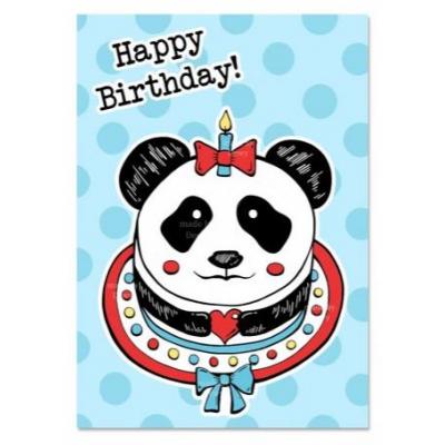 'Happy Birthday' Panda Kaart
