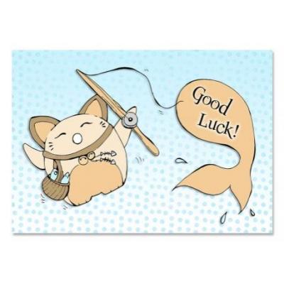 'Good Luck' Neko Kaart