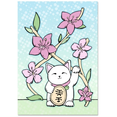 'Lucky Cat' Kaart