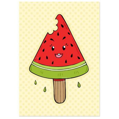 'Kawaii Watermeloen IJsje' Kaart