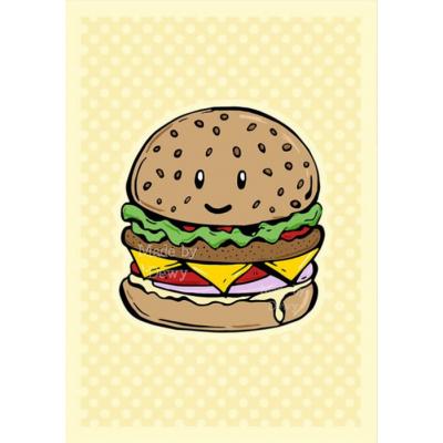 'Kawaii Hamburger' Kaart