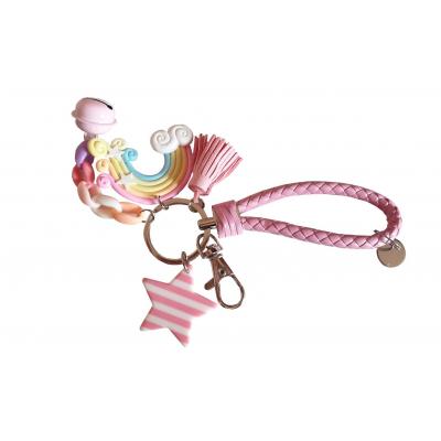 Kawaii Lucky Charms Sleutelhanger (roze)