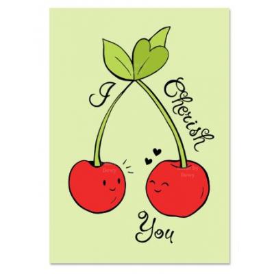 'I Cherish You' Kersen Kaart