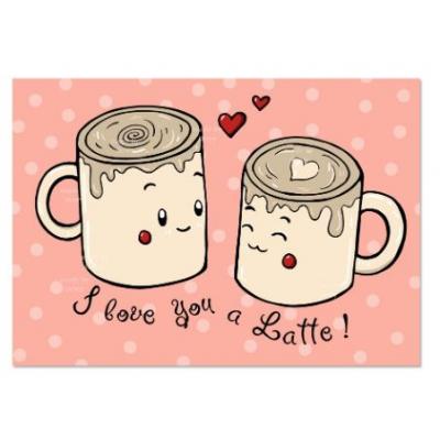 'I love you a Latte' Koffie Kaart