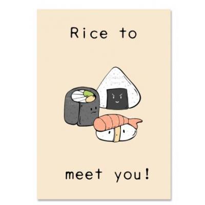 'Rice to meet you' Sushi Kaart (A)