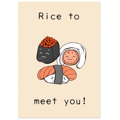'Rice to meet you' Sushi Kaart (B)