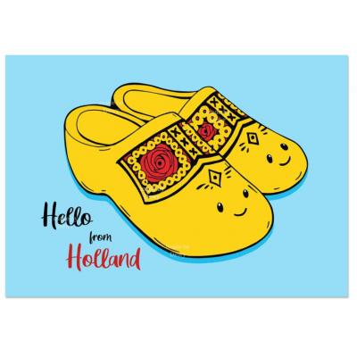 'Hello Holland' Klompjes Kaart