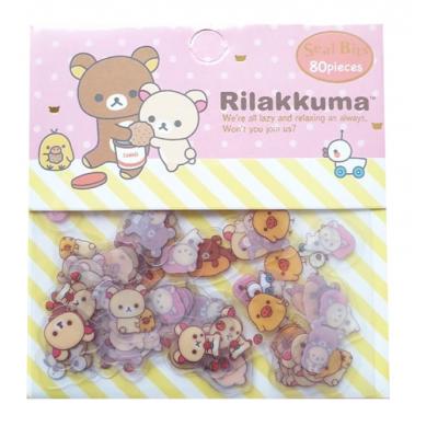 Rilakkuma Stickers 80 stuks (cookies)