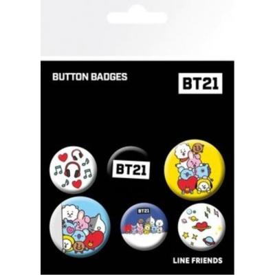 BT21 Mix - Buttons / 6 stuks