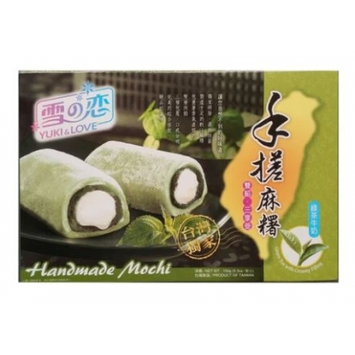 Handmade Mochi Milk with Green Tea Filling