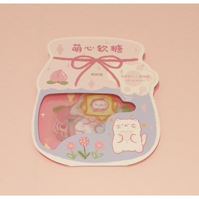 Kawaii Kat/Sweets Stickers 45 stuks (roze)