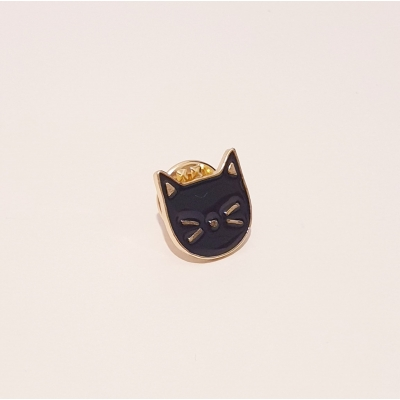 Cat Pin (Black)