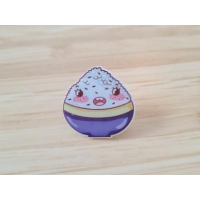 Sushi Rice Acrylic Pin