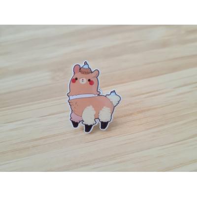 Lama Cutiepie Acrylic Pin
