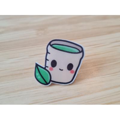 Green Tea Acrylic Pin