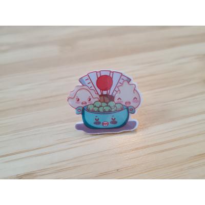 Sushi Peas & Gyoza Acrylic Pin