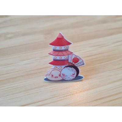 Sushi Tower Acrylic Pin